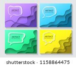 set abstract background... | Shutterstock .eps vector #1158864475