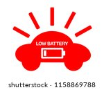 electric car and vehicle with... | Shutterstock .eps vector #1158869788