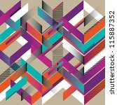 geometric abstract colorful... | Shutterstock .eps vector #115887352