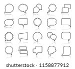 speech bubble thin line icons... | Shutterstock .eps vector #1158877912