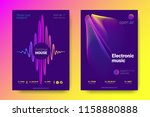 electronic music party poster... | Shutterstock .eps vector #1158880888