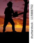 a silhouette of a cowboy with a ... | Shutterstock . vector #115888702