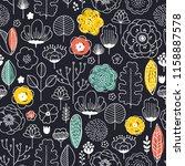 flower fabric seamless pattern. ... | Shutterstock .eps vector #1158887578