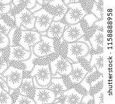 gingerbread. black and white... | Shutterstock .eps vector #1158888958