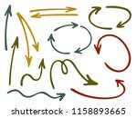 hand drawn diagram arrow icons... | Shutterstock .eps vector #1158893665