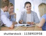 young people studying with... | Shutterstock . vector #1158903958