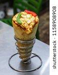 delicious cheese vegetarian... | Shutterstock . vector #1158908908