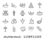 diwali icon set. included icons ... | Shutterstock .eps vector #1158911335