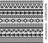 ethnic boho tribal indian... | Shutterstock .eps vector #1158913498