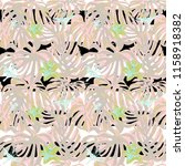 tropical print. jungle seamless ... | Shutterstock .eps vector #1158918382