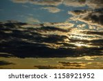 stratocumulus clouds with rifts ... | Shutterstock . vector #1158921952