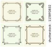 vector decorative text frames | Shutterstock .eps vector #115893832