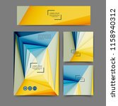 set of color abstract brochure... | Shutterstock .eps vector #1158940312