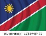 the national flag of namibian....   Shutterstock .eps vector #1158945472