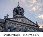 detail of the royal palace at... | Shutterstock . vector #1158951172