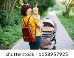 family  child and parenthood...   Shutterstock . vector #1158957925