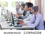 young customer service... | Shutterstock . vector #1158960208