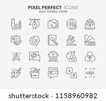 thin line icons set of graphic... | Shutterstock .eps vector #1158960982