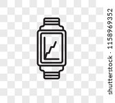 smartwatch vector icon isolated ... | Shutterstock .eps vector #1158969352