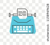 typewriter vector icon isolated ... | Shutterstock .eps vector #1158969628
