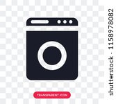 washing machine vector icon... | Shutterstock .eps vector #1158978082