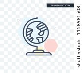 geography vector icon isolated... | Shutterstock .eps vector #1158981508