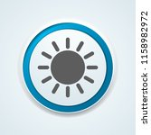 sun heat button illustration | Shutterstock .eps vector #1158982972
