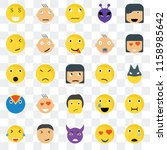 set of 25 transparent icons... | Shutterstock .eps vector #1158985642