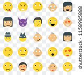 set of 25 transparent icons... | Shutterstock .eps vector #1158985888