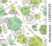 seamless pattern with yerba... | Shutterstock .eps vector #1158993235
