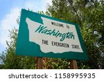 welcome to washington state... | Shutterstock . vector #1158995935