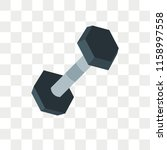 barbell vector icon isolated on ... | Shutterstock .eps vector #1158997558