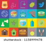 set of 20 icons such as rabbit  ... | Shutterstock .eps vector #1158999478