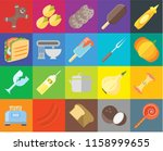 set of 20 icons such as... | Shutterstock .eps vector #1158999655