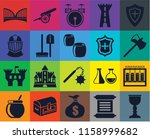 set of 20 icons such as goblet  ...