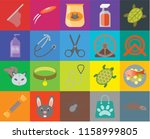 set of 20 icons such as mouse ... | Shutterstock .eps vector #1158999805