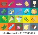 set of 20 icons such as coconut ... | Shutterstock .eps vector #1159000495