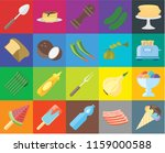 set of 20 icons such as ice... | Shutterstock .eps vector #1159000588