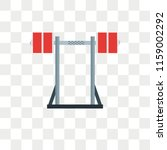 barbell vector icon isolated on ... | Shutterstock .eps vector #1159002292