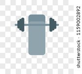 barbell vector icon isolated on ... | Shutterstock .eps vector #1159002892