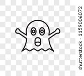 ghost vector icon isolated on... | Shutterstock .eps vector #1159006072