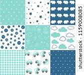 set of baby boy seamless... | Shutterstock .eps vector #1159008085