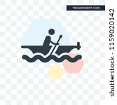 rowing vector icon isolated on... | Shutterstock .eps vector #1159020142