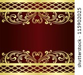 luxury claret background... | Shutterstock .eps vector #115902025