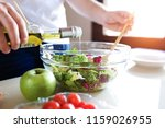 close up of young man preparing ...   Shutterstock . vector #1159026955