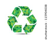 vector illustration of recycle... | Shutterstock .eps vector #115904038