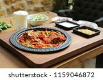 kebab  minced meat kebab ... | Shutterstock . vector #1159046872