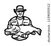illustration for fishing logo....   Shutterstock .eps vector #1159055512