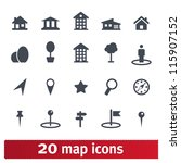 maps icons  vector set of... | Shutterstock .eps vector #115907152