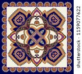 contrast bandanna with dark... | Shutterstock .eps vector #1159077622